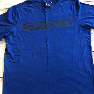 Spyder T-Shirt 2XL XXL Blue Short sleeve Crew Tee